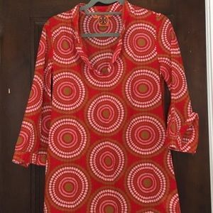 Tory Burch red geometric tunic dress